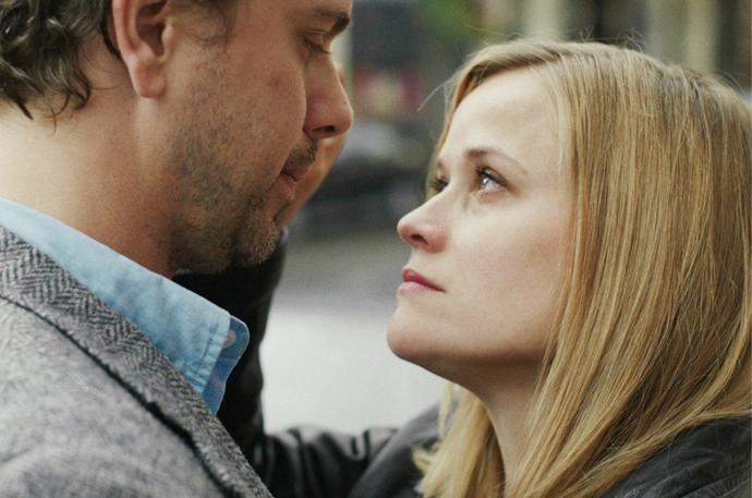 "Thomas Sadoski as ""Paul"" (left) and Reese Witherspoon as ""Cheryl Strayed"" (right) in WILD."