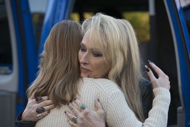 Ricki (Meryl Streep) says bye to Julie (Mamie Gummer) in TriStar Pictures' RICKI AND THE FLASH.